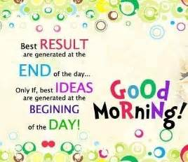 good morning with some best ideas