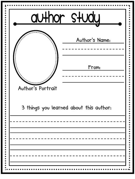 Author Study Worksheet coconut cutie s classroom back to school a z mystery style