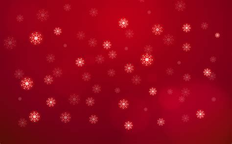 abstract white snow flake falling  sky  red background merry christmas  happy  year