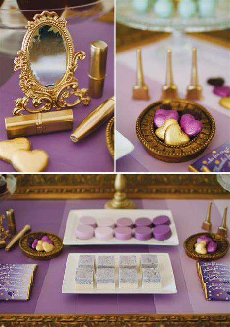 Purple And Gold Birthday Decorations by Ombre Purple Spa Themed Birthday Hostess With The