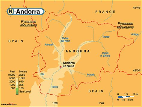 andorra on a map andorra map geography of andorra map of andorra