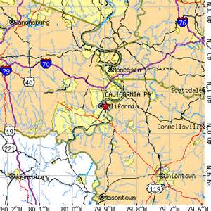 california of pennsylvania map california pennsylvania pa population data races