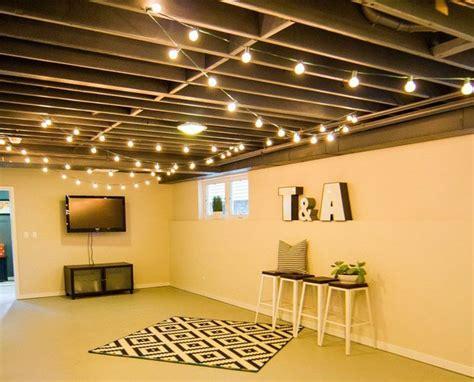 basement ceiling lighting ideas 20 budget friendly but cool basement ideas exposed
