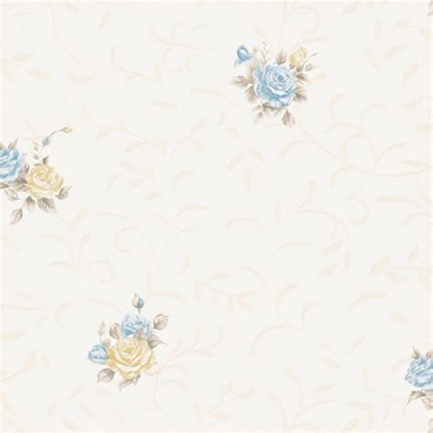 Bunga Soft by Jual Wallpaper Dinding Eropa Modern Bunga Warna Soft Biru