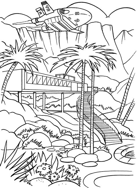 Thunderbirds Coloring Pages Coloringpages1001 Com Colouring In