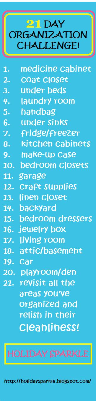 organize day 2014 new year 21 day organization challenge clean your