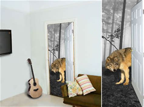 wolf themed bedroom 3d wolf forest fabric door banner room decoration games