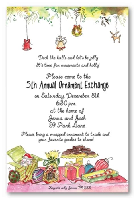sle wording for ornament exchanges ornament exchange personalized photo cards by address to impress