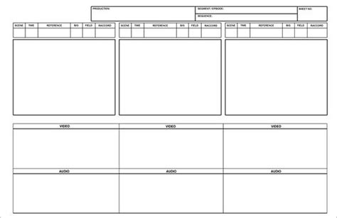 free storyboard templates for word storyboard template 11 free sle exle