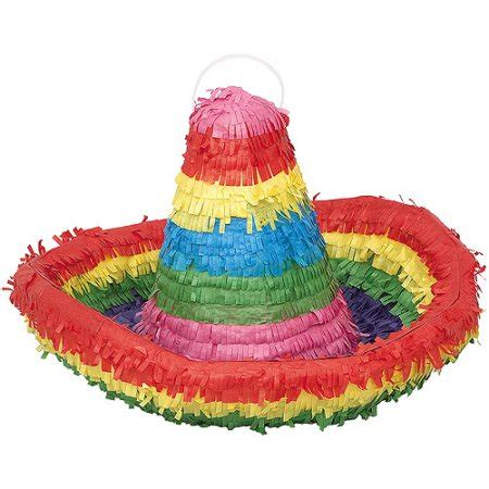 How To Make A Sombrero Hat Out Of Paper - sombrero hat pinata walmart