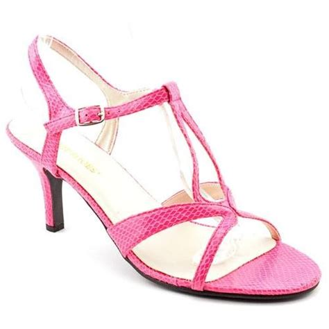 pink leather heeled sandals annie alana pink dress