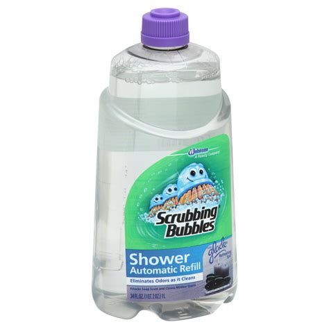 automatic bathtub cleaner scrubbing bubbles automatic shower cleaner refill refreshing spa 34 fl oz 1 qt 2