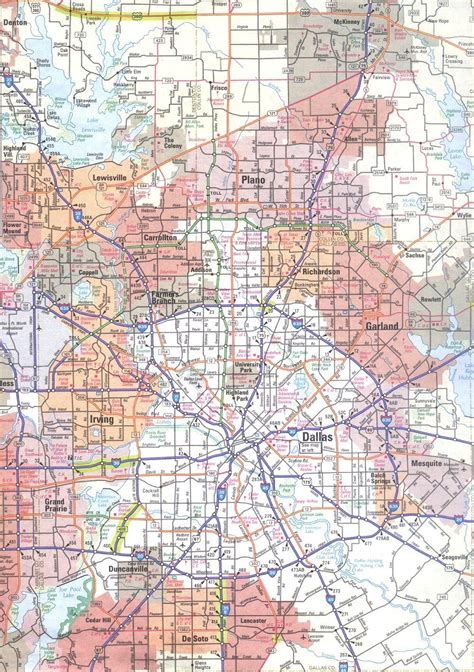 map of dallas map of dallas