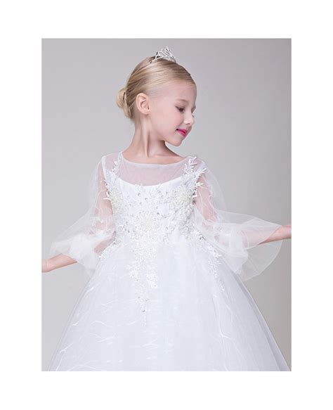 beaded flower dress tulle lace beaded flower dress with