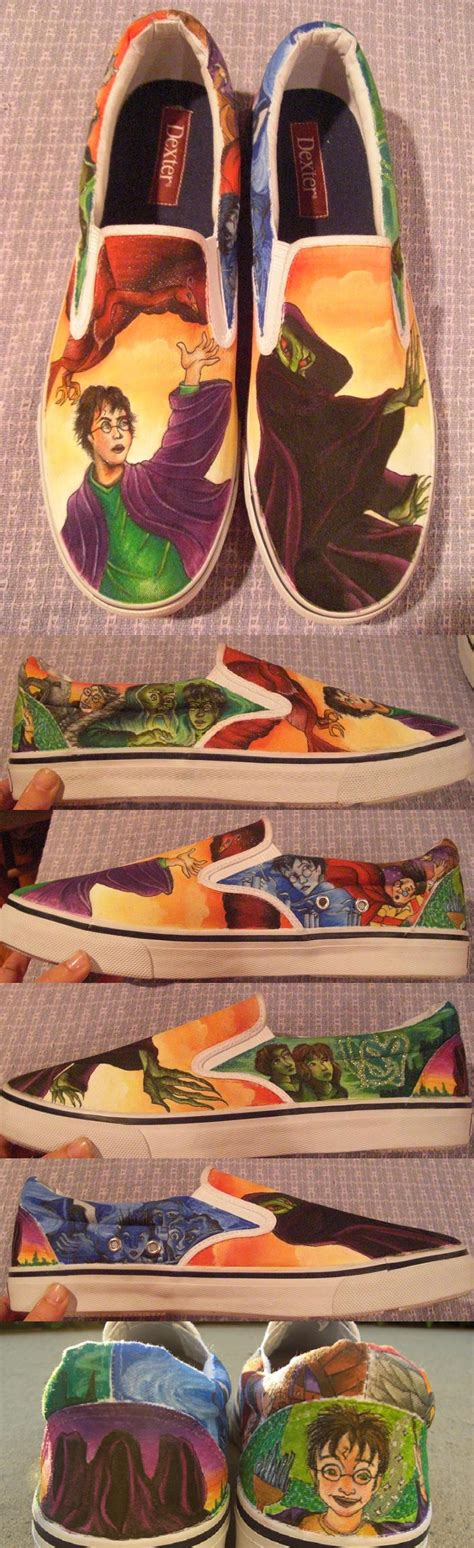 Handmade Shoes Montreal - harry potter custom shoes by madeleinedemontreal on deviantart