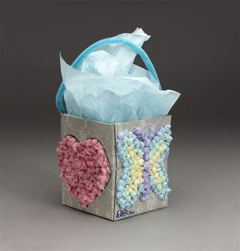 Tissue Paper Box Craft - tissue treasure box craft crayola