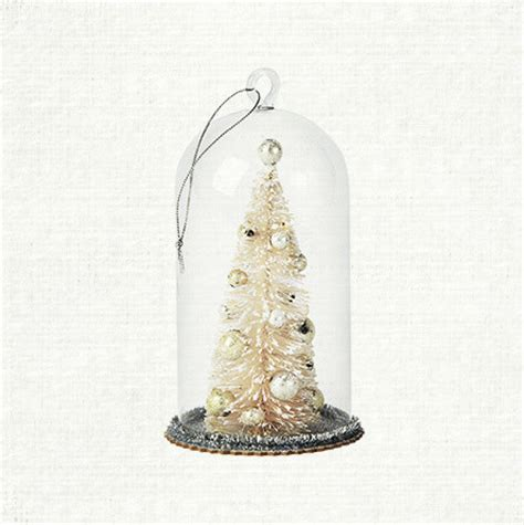 small glass bell tree ornament contemporary christmas