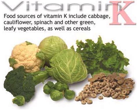 vegetables low in vitamin k top 15 foods high in vitamin k