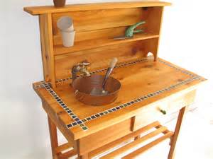 potting bench with sink custom potting bench for jim faucet sink by bluejaysworkshop