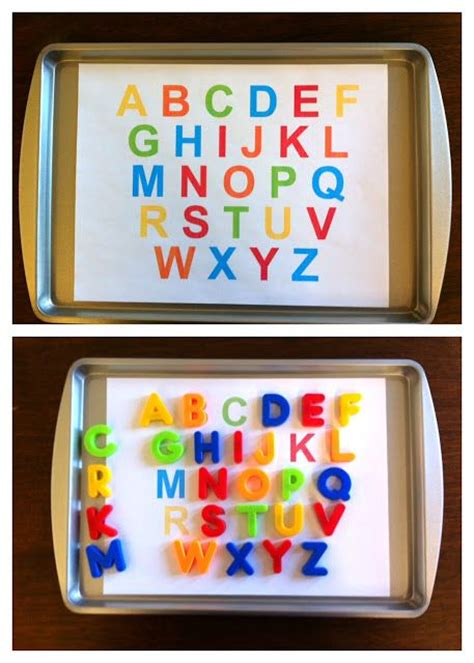 intentional momma alphabet printable  magnet matching pre     heart