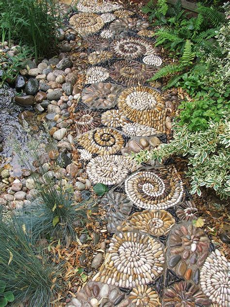 backyard pebbles backyard landscaping ideas 15 magical diy pebble paths