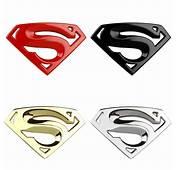3D 3M Chrome Emblem Auto Logo Superman Badge Metal