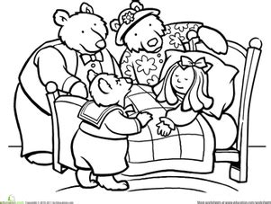 printable coloring pages for goldilocks and the three bears color goldilocks and the three bears worksheet