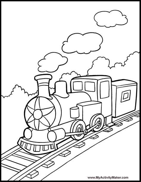 coloring pages transportation my activity maker