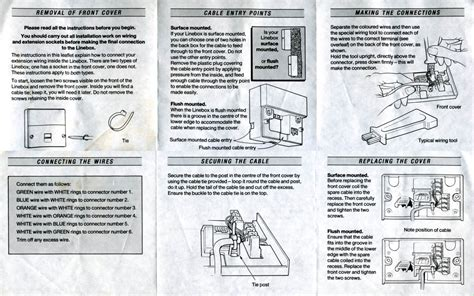 wiring information inside bt telephone sockets diagram webtor