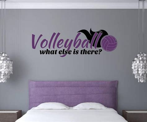wall stickers teenage bedrooms volleyball sports vinyl decal wall stickers words letters teen room decor home
