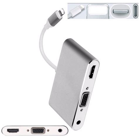 Lightning To Vga Audio To Hdmi 2 In 1 adapter converter lightning to hdmi vga with audio port