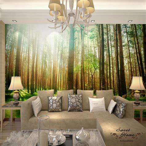 whole wall murals green forest wall mural wallpaper print decal indoor deco home au ebay