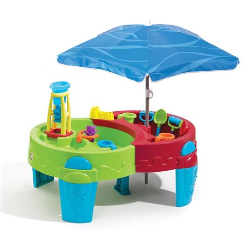 step2 shady oasis sand and water table step2 shady oasis sand water play table with 42 quot umbrella