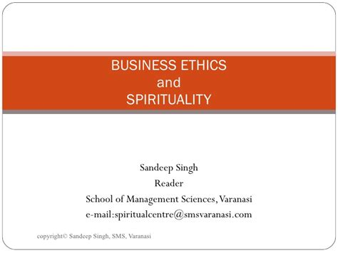Business And Ethics Mba by Business Ethics And Spirituality