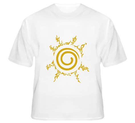 New Product Kaos Anime Seal Kyuubi chest yellow seal kurama nine tails fox