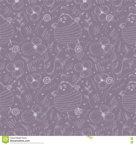 seamless pattern animals seamless vector pattern with animals stock vector image