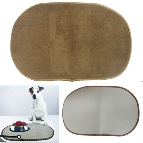 bowl mat large microfiber pet bowl mat machine washable cushions water food bowls cat ebay