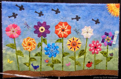Flower Quilt by Quilt Inspiration Bloooming Flower Quilts