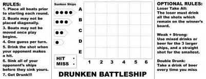 Battleship Board Template by Craft Disasters And Other Atrocities Drunken Battleship