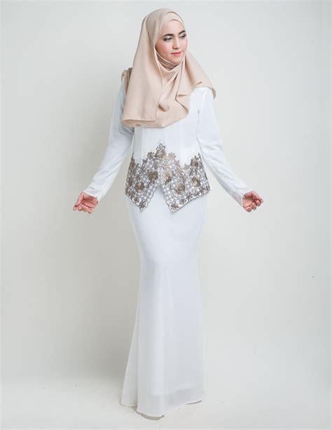 Baju Melayu Nikah Putih baju kurung moden suriani putih baju kurung moden terkini 2017