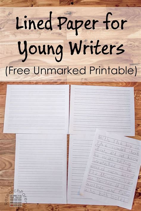 best photos of printable kindergarten lined writing paper free