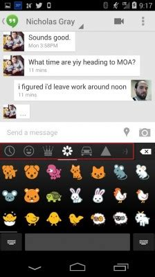 how to use emoji in the android 4.4 kitkat keyboard