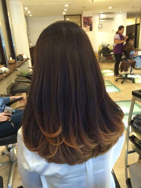 model warna rambut highlight  ide siswa