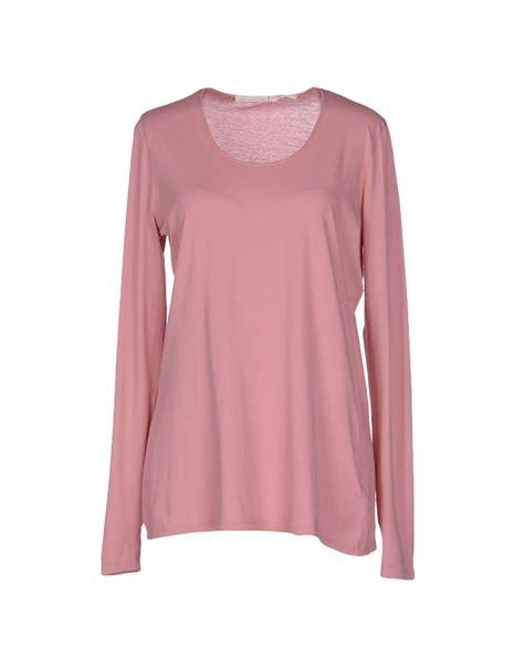 Tshirt Kaos Longsleeve Ck schumacher sleeve t shirt in pink lyst