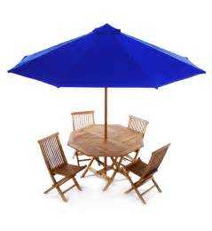 Patio Table Umbrella Teak 6 Dining Set Combo Tt6p
