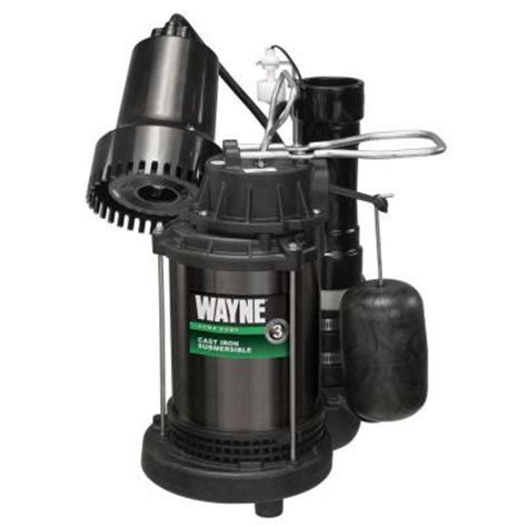 wayne 1 3 hp preassembled sump and back up system