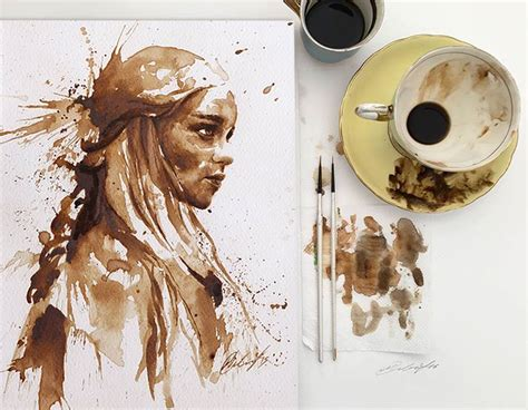 sketchbook pro watercolor brush painting with coffee a free brush set autodesk sketchbook