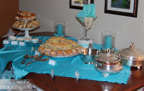 Gloria's blog: Tiffany Co bridal shower food For the Breakfast at Tiffany 39s brunch menu