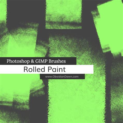 tutorial photoshop gimp rolled paint photoshop gimp brushes obsidian dawn