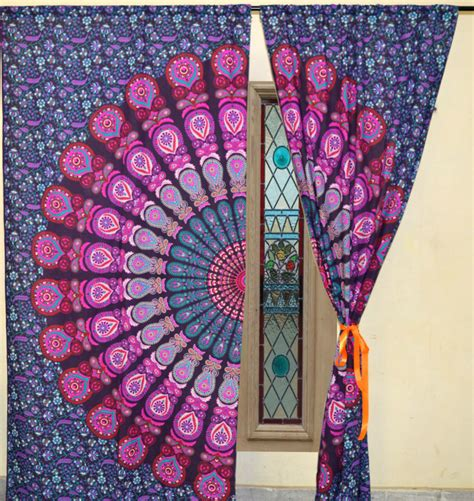 indian tapestry curtains indian tapestry mandala 2 panels door curtains bohemian